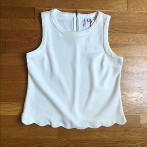 ELLE scalloped hem tank